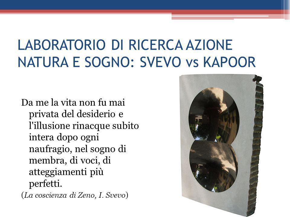 LABORATORIO DI RICERCA AZIONE NATURA E SOGNO: SVEVO vs KAPOOR