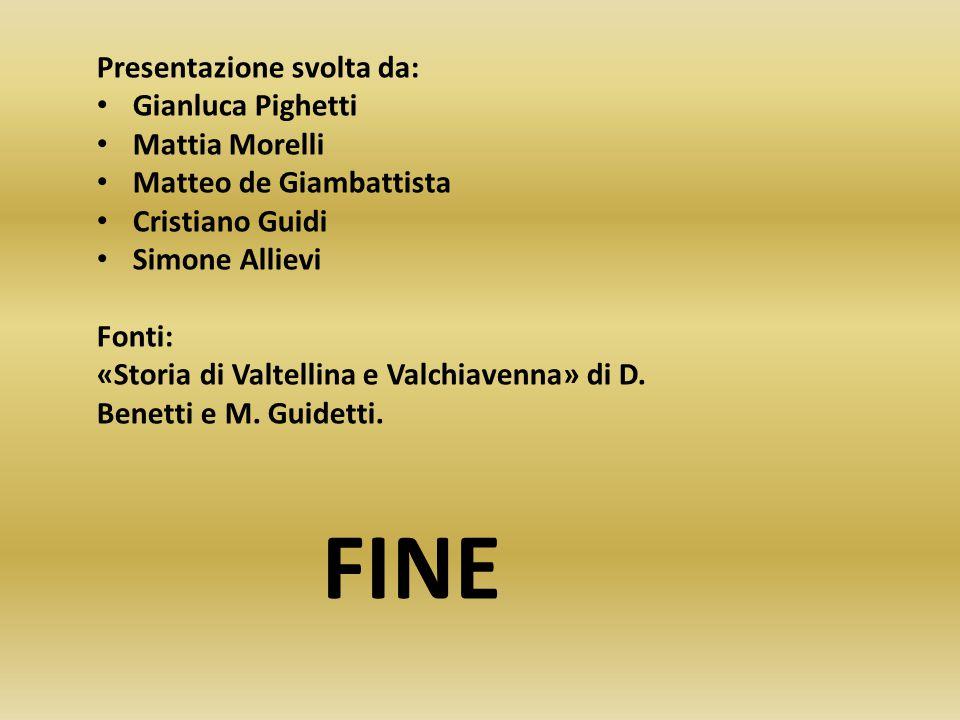 FINE Presentazione svolta da: Gianluca Pighetti Mattia Morelli