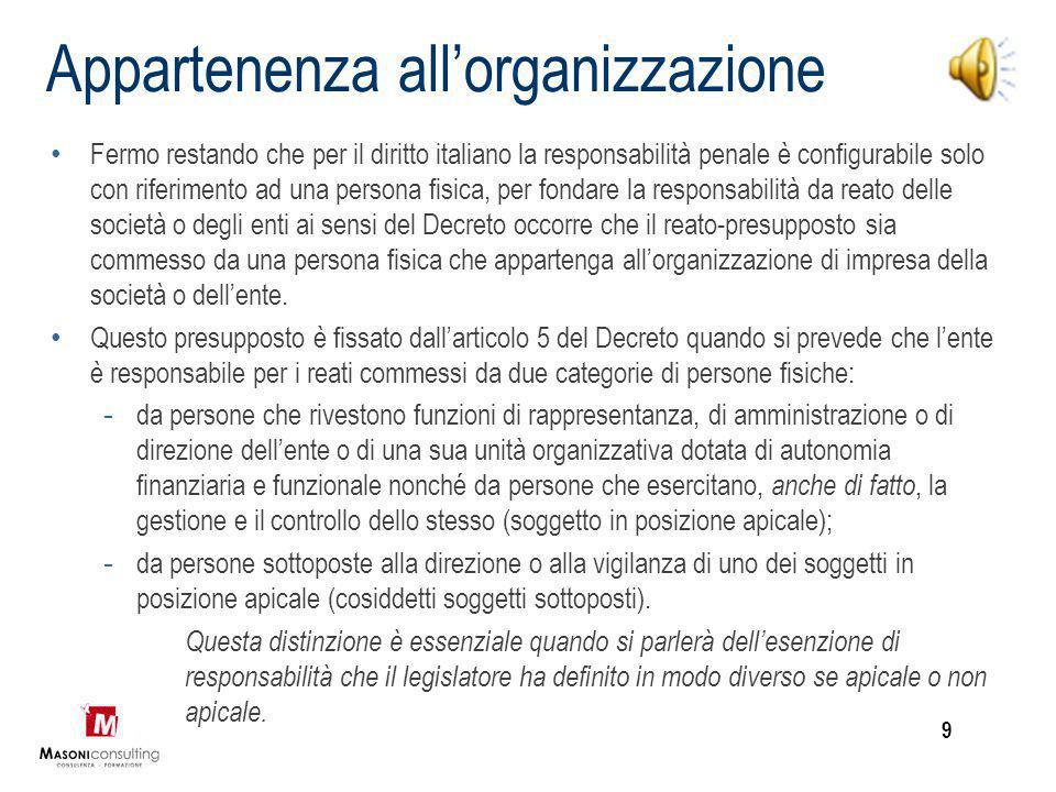 Appartenenza all'organizzazione