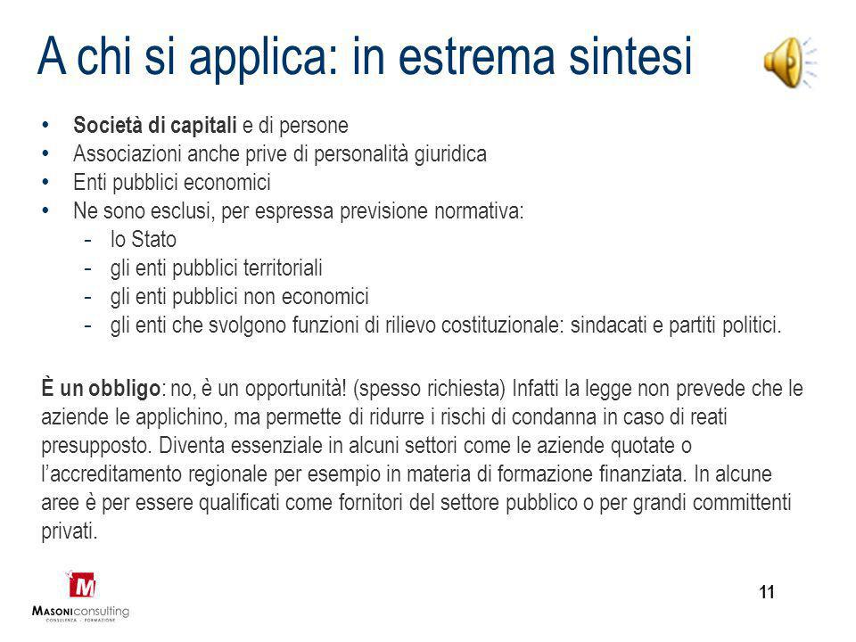 A chi si applica: in estrema sintesi