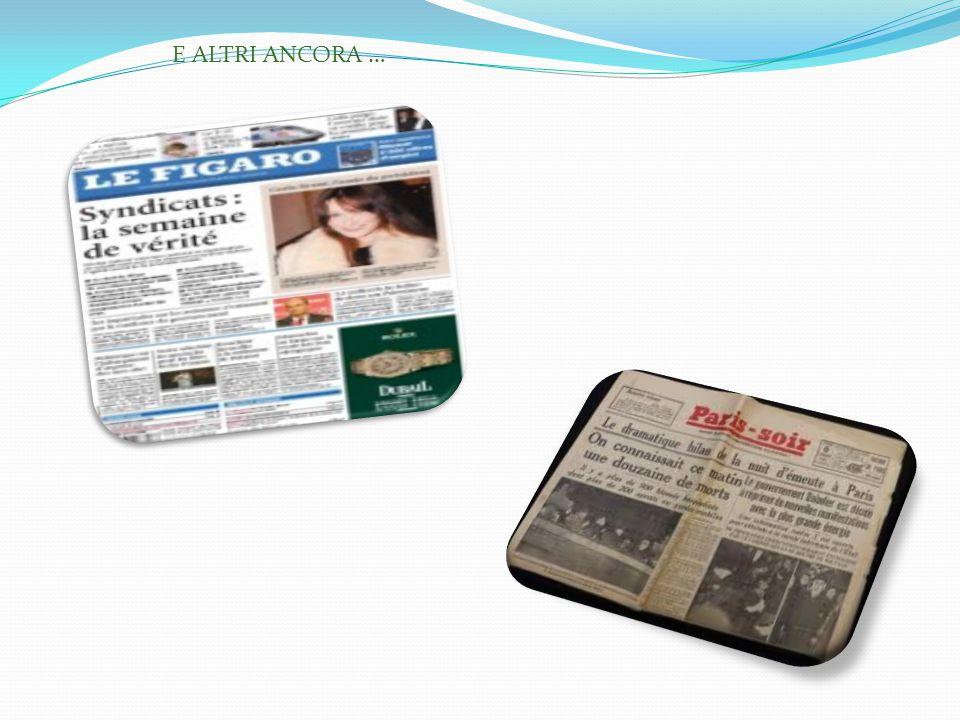 E ALTRI ANCORA … I giornali immagine