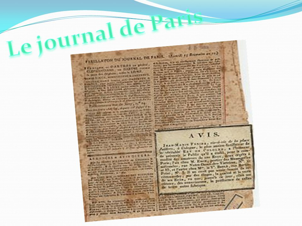 Le journal de Paris LE JOURNAL DE PARIS