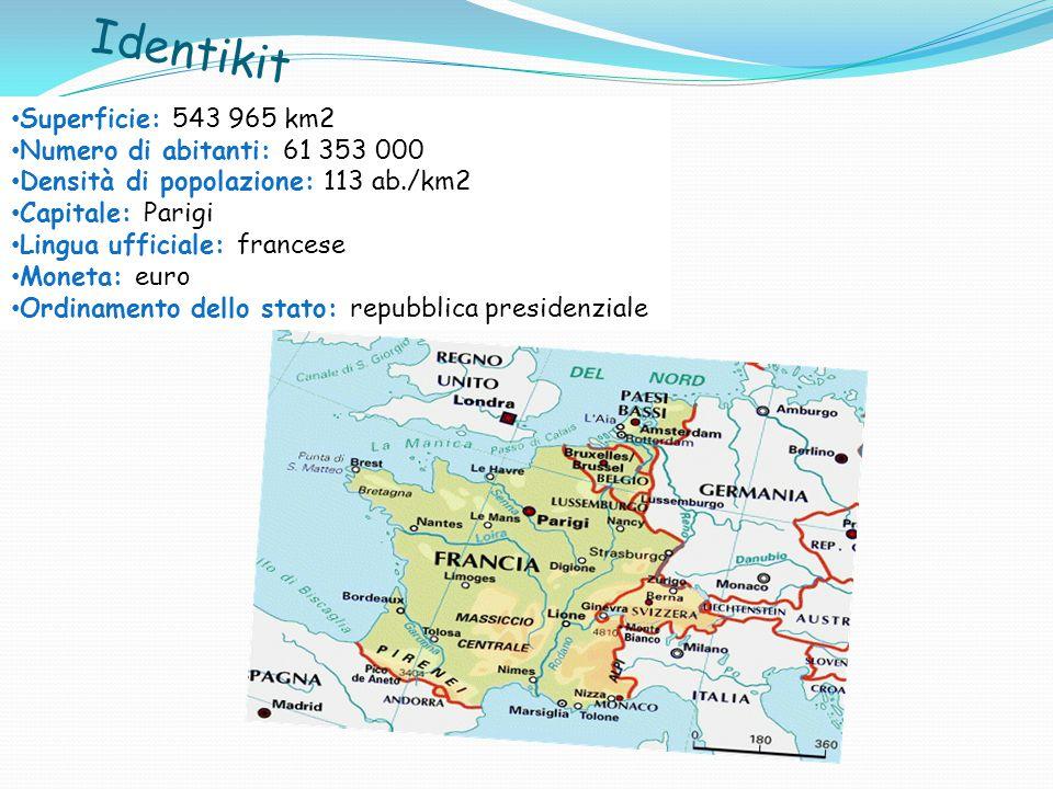 Identikit Superficie: 543 965 km2 Numero di abitanti: 61 353 000