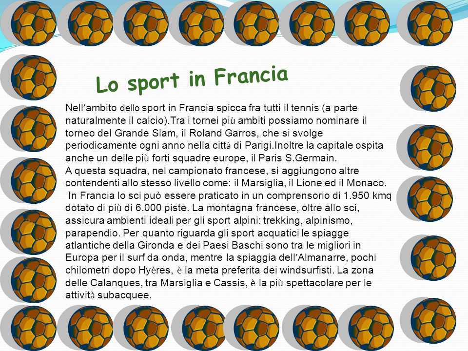 Lo sport in Francia