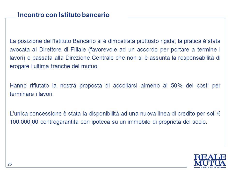 Incontro con Istituto bancario