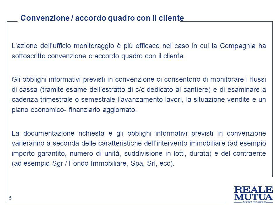 Convenzione / accordo quadro con il cliente