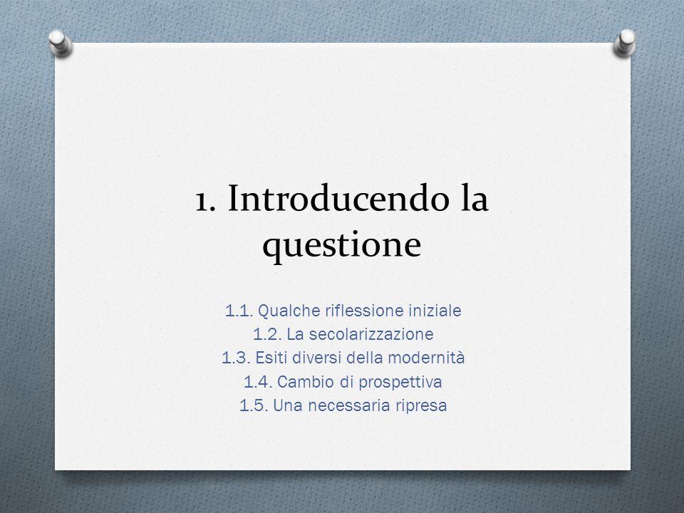 1. Introducendo la questione