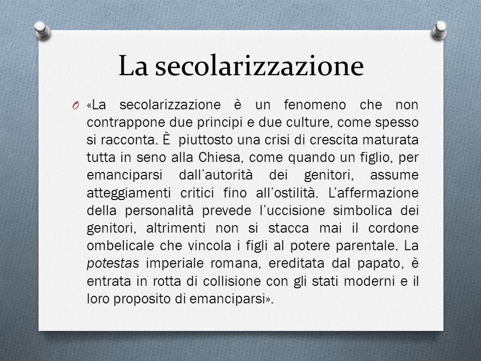 La secolarizzazione