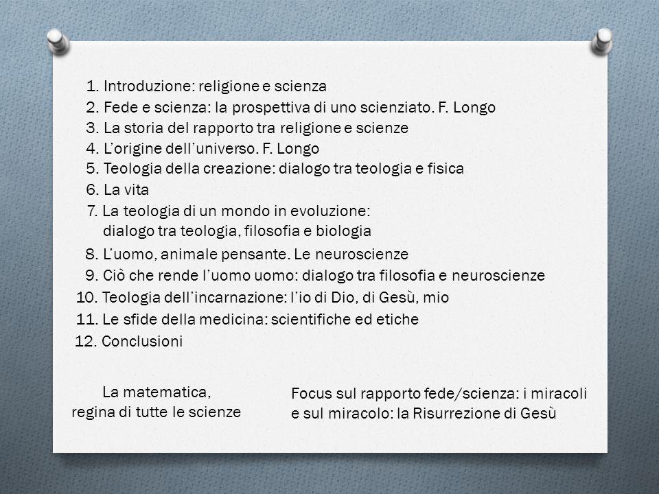 1. Introduzione: religione e scienza