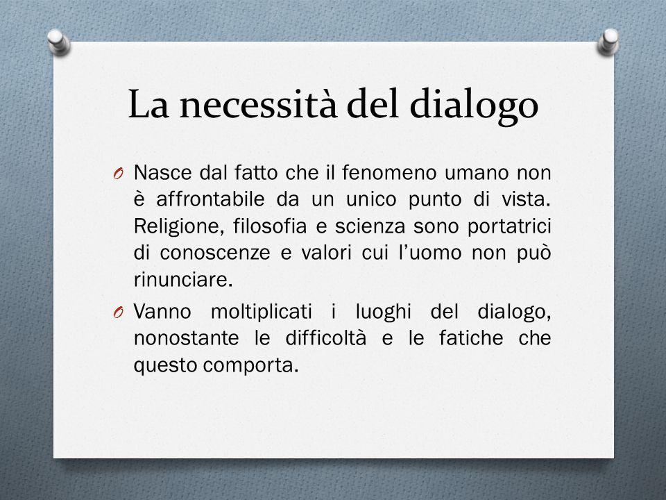 La necessità del dialogo