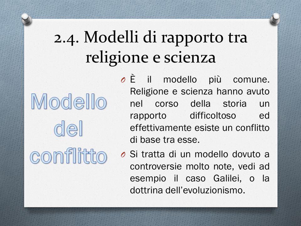 2.4. Modelli di rapporto tra religione e scienza