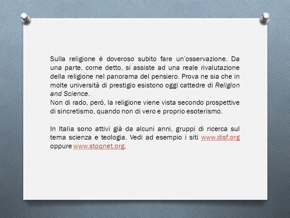 Sulla religione è doveroso subito fare un'osservazione
