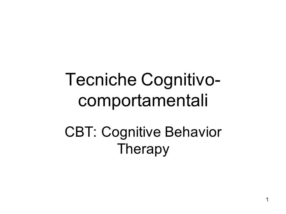 Tecniche Cognitivo-comportamentali