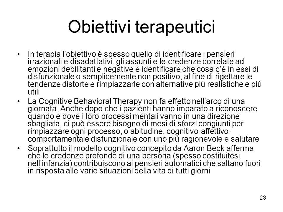 Obiettivi terapeutici