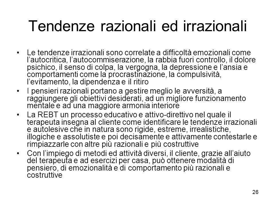Tendenze razionali ed irrazionali