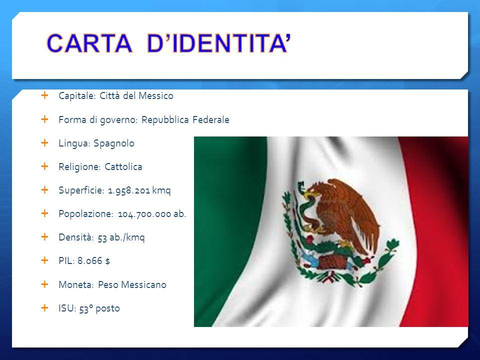 CARTA D'IDENTITA' Capitale: Città del Messico
