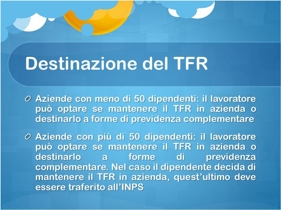 Destinazione del TFR