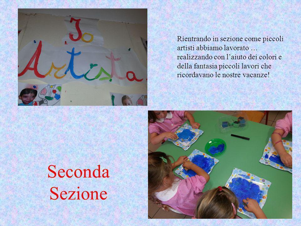 Rientrando in sezione come piccoli artisti abbiamo lavorato … realizzando con l'aiuto dei colori e della fantasia piccoli lavori che ricordavano le nostre vacanze!