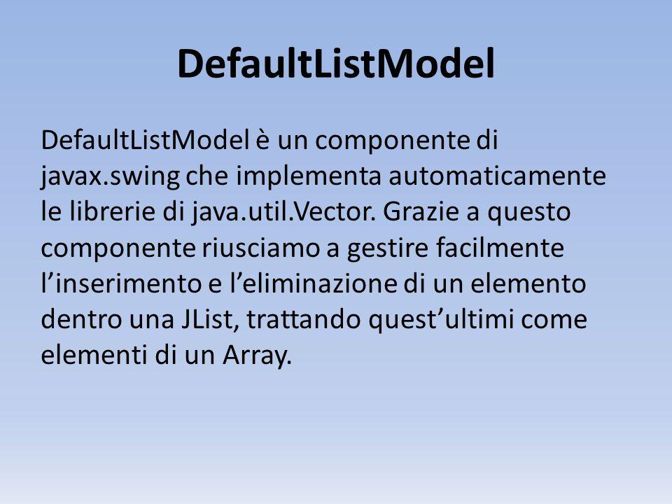 DefaultListModel