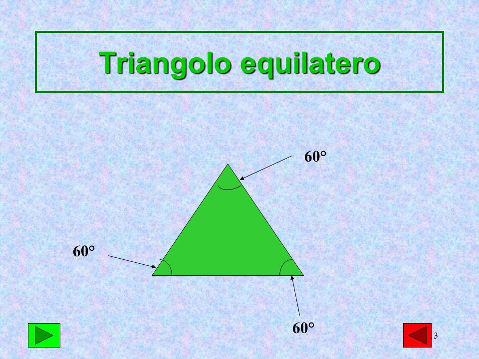 Triangolo equilatero 60° 60° 60°