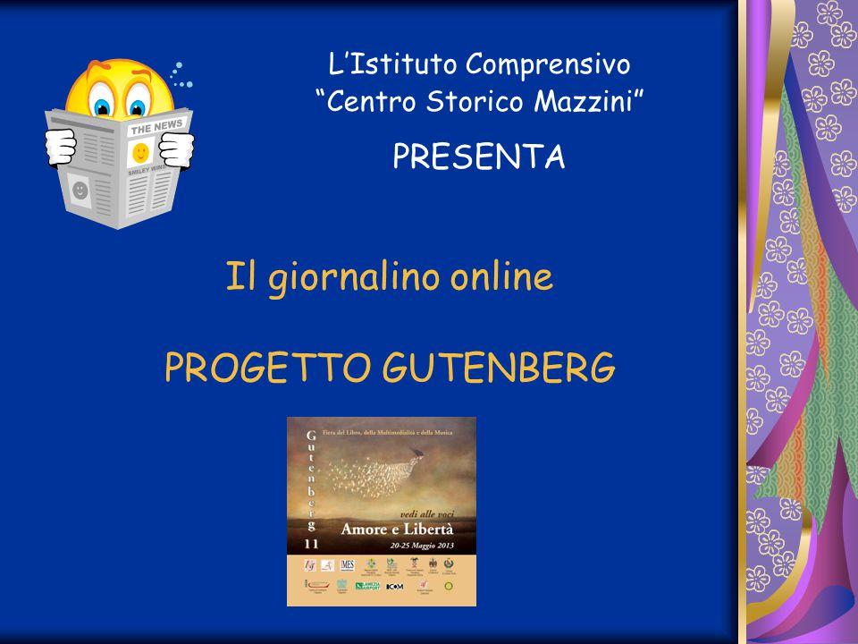 Il giornalino online PROGETTO GUTENBERG