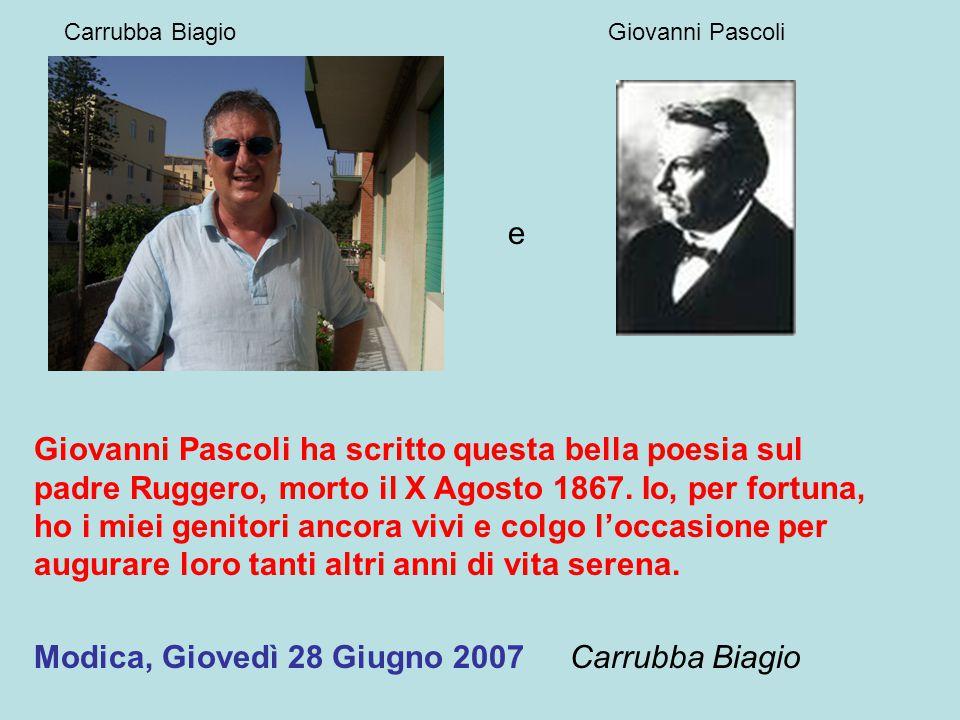 Carrubba Biagio Giovanni Pascoli. e.