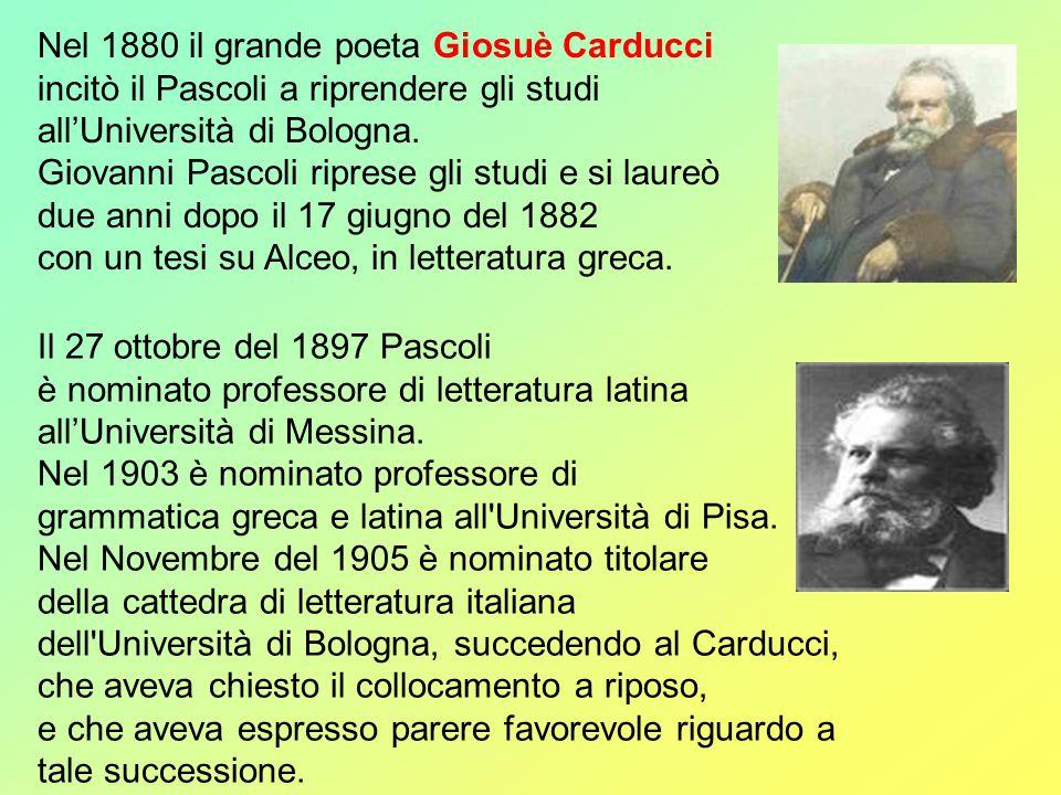Nel 1880 il grande poeta Giosuè Carducci