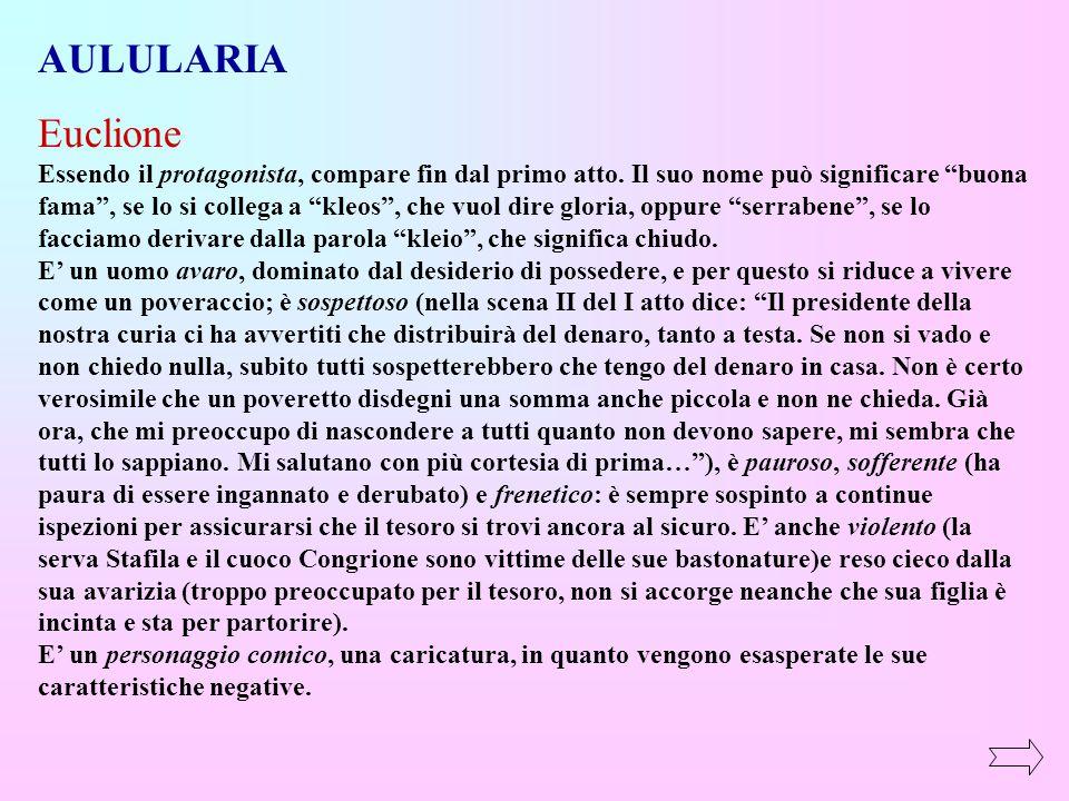 AULULARIA Euclione.
