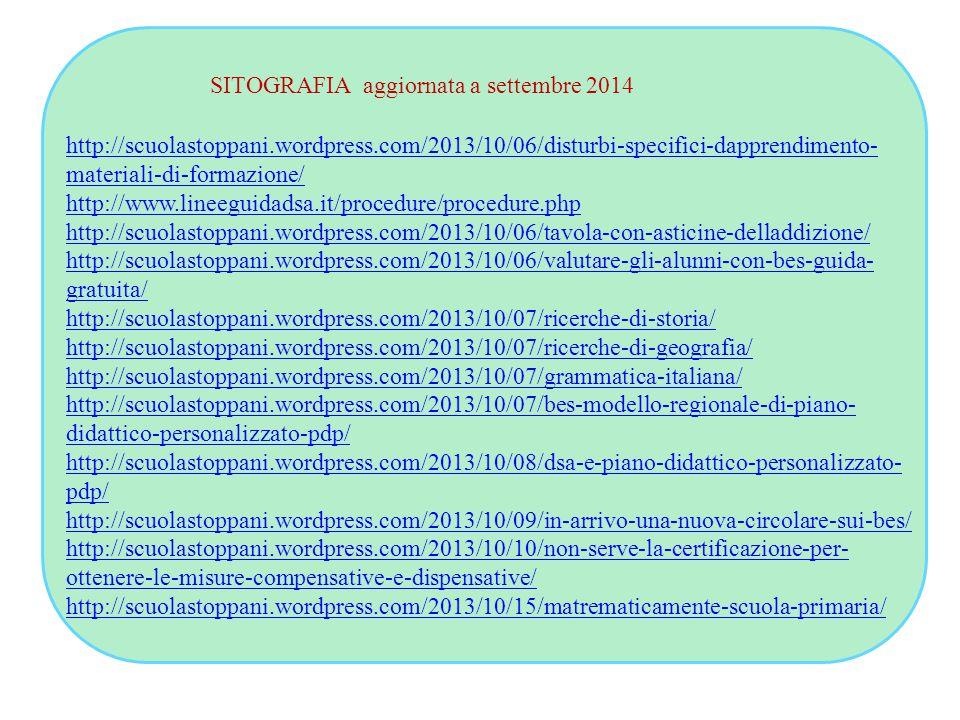 SITOGRAFIA aggiornata a settembre 2014