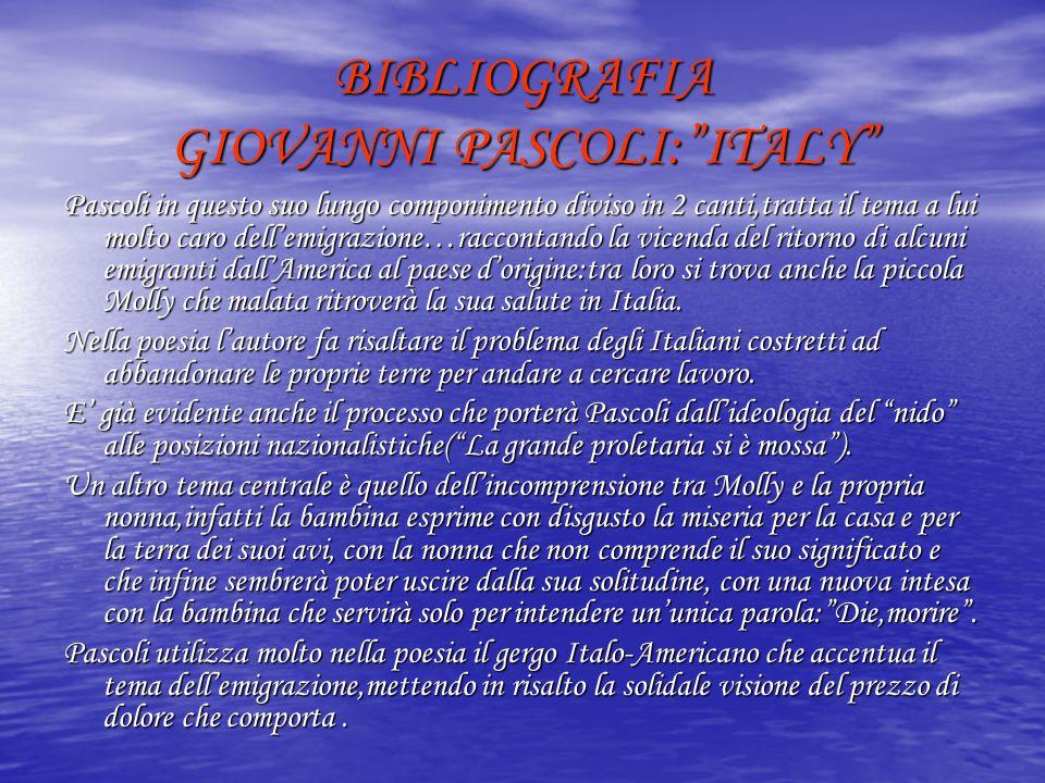 BIBLIOGRAFIA GIOVANNI PASCOLI: ITALY