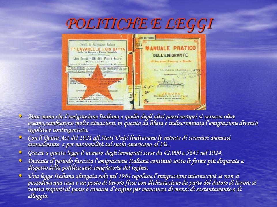 POLITICHE E LEGGI