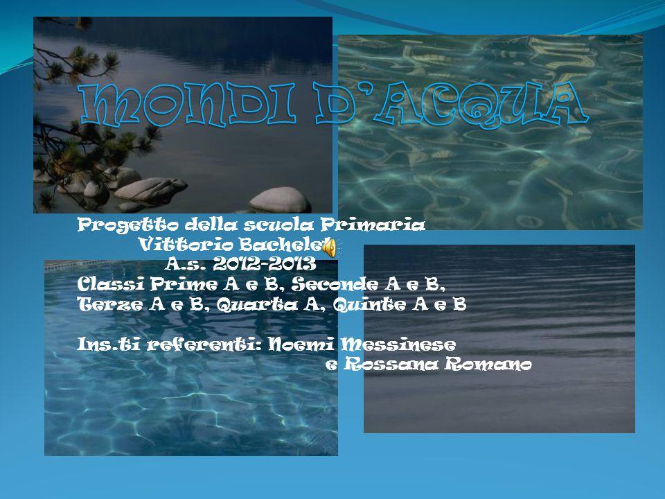 MONDI D'ACQUA Progetto della scuola Primaria Vittorio Bachelet