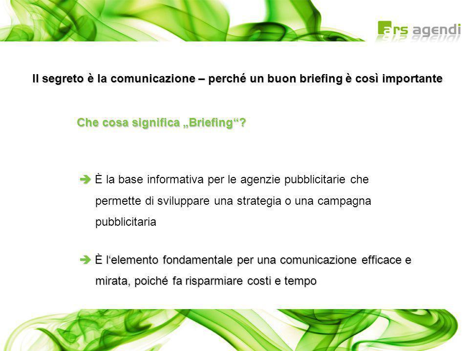 Il segreto è la comunicazione – perché un buon briefing è così importante