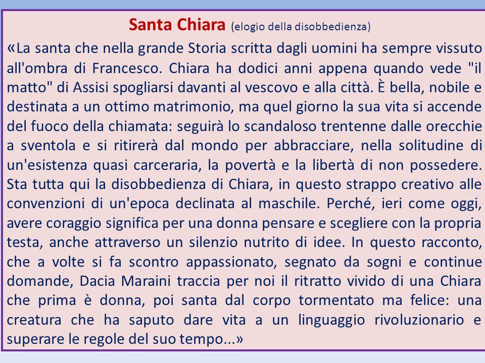 Santa Chiara (elogio della disobbedienza)