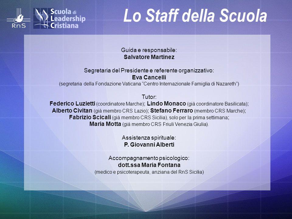 Lo Staff della Scuola Guida e responsabile: Salvatore Martinez