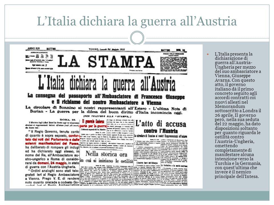 L'Italia dichiara la guerra all'Austria