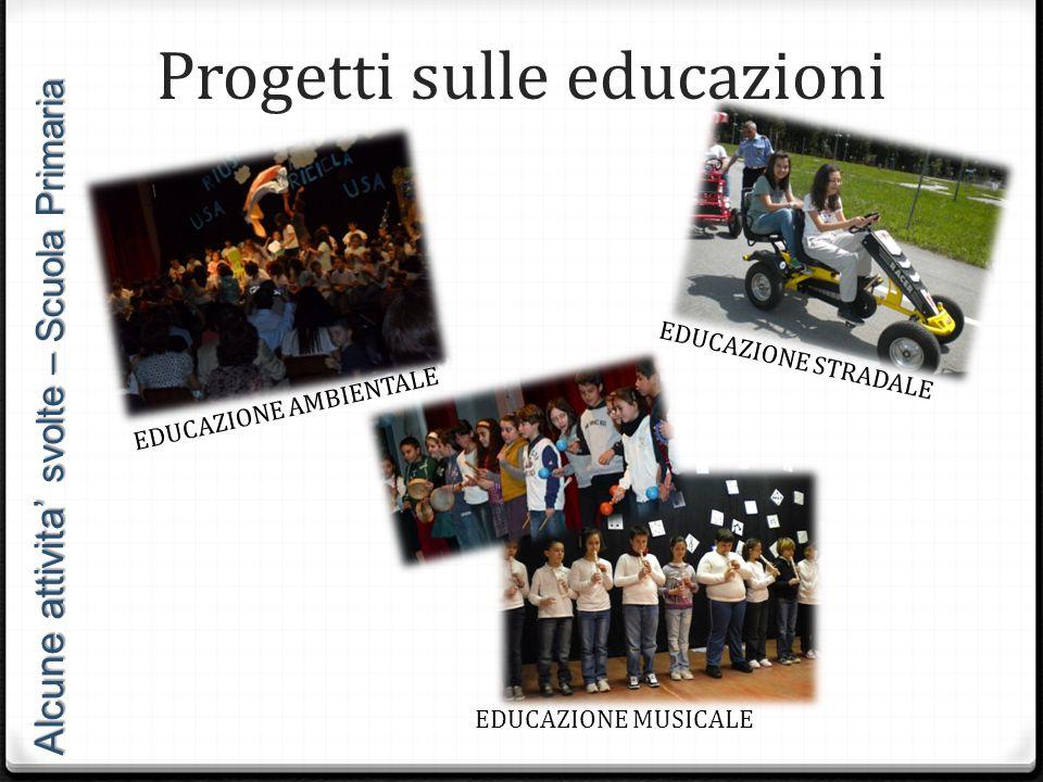 Progetti sulle educazioni
