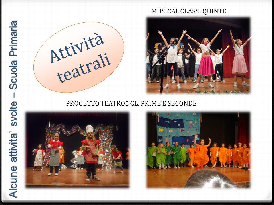 PROGETTO TEATRO5 CL. PRIME E SECONDE