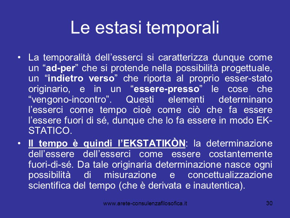 Le estasi temporali
