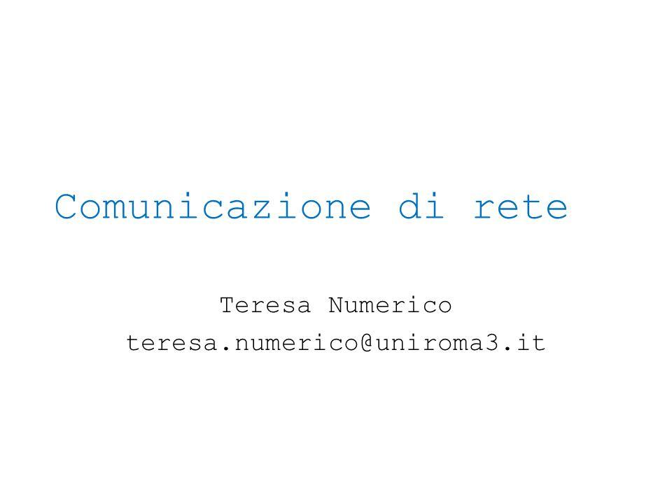 Teresa Numerico teresa.numerico@uniroma3.it