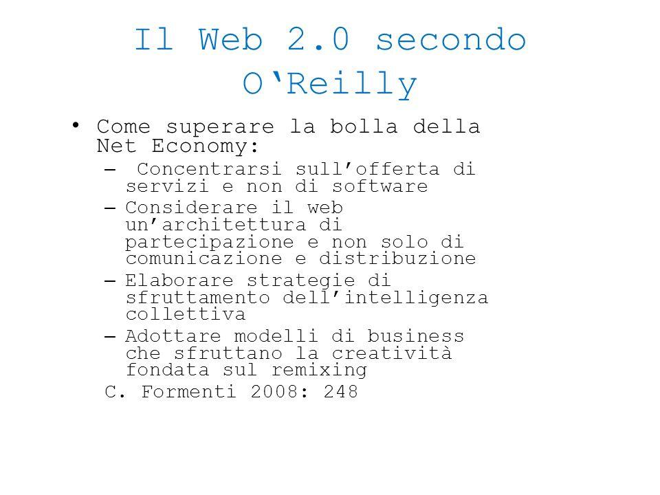 Il Web 2.0 secondo O'Reilly