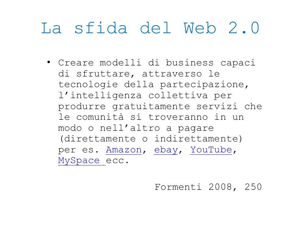 La sfida del Web 2.0