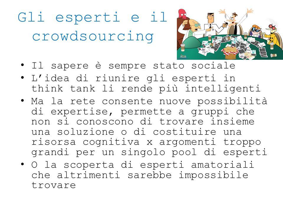 Gli esperti e il crowdsourcing