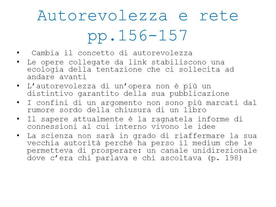 Autorevolezza e rete pp.156-157