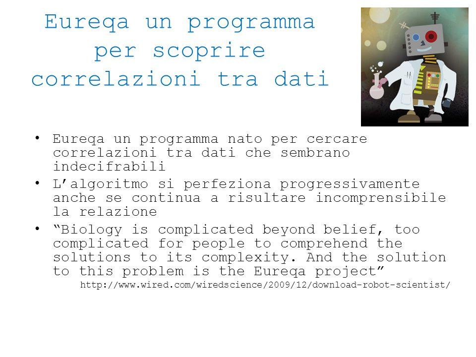 Eureqa un programma per scoprire correlazioni tra dati