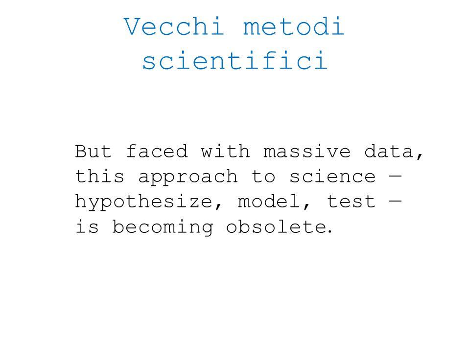 Vecchi metodi scientifici