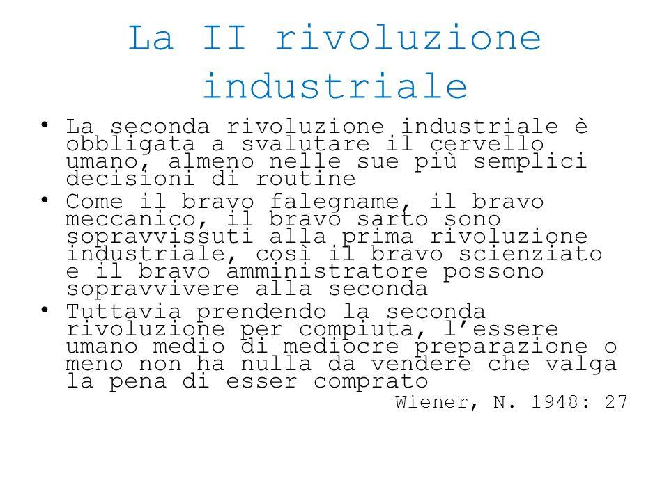 La II rivoluzione industriale