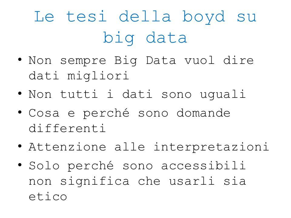 Le tesi della boyd su big data