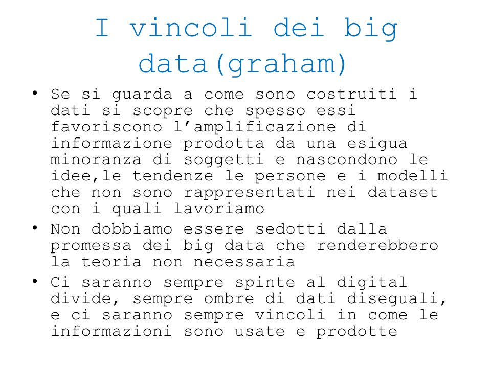 I vincoli dei big data(graham)