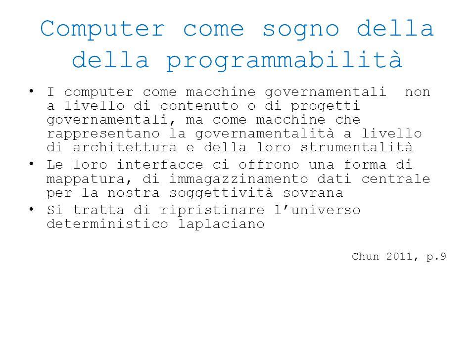Computer come sogno della della programmabilità